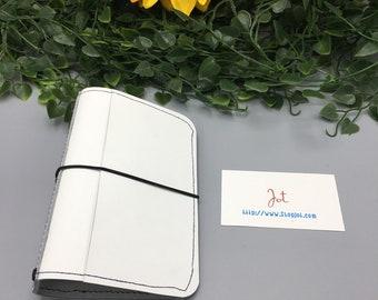 PJ03 - White Hot Summer with Pockets - PocketJot Traveler's Notebook/Planner Cover/Journal
