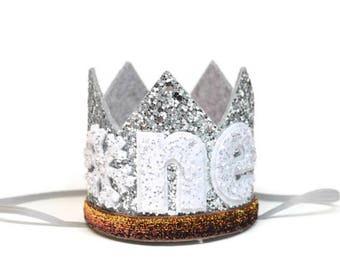 Winter Onederland Birthday Crown || First Birthday Crown || 1st Birthday Crown || Girl Boy Birthday Crown || Little  Blue Olive