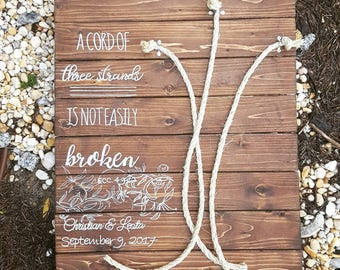 A Cord of Three Strands custom made sign