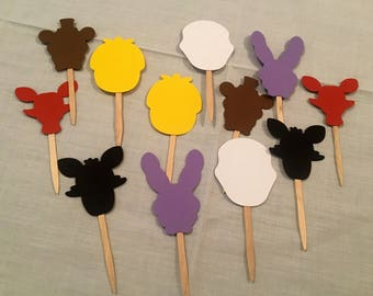 Five Nights at Freddy's cupcake toppers, FNAF party, FNAF birthday