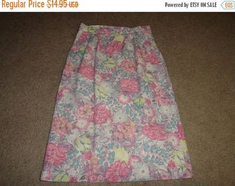 50% OFF Vintage skirt size Size 7/8  Peabody House  poly/linen/cotton 28 inch waist  27 inch length