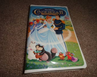 CINDERELLA II Disney collectible vhs tape vintage vcr -vcr-vhs-tape-vhs tape- vcr tape- vcr machine- tape player--Disney-