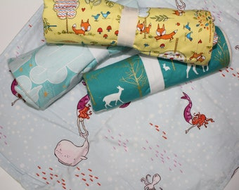 Enchanted Prints: Changing Pad, Waterproof Travel Size Changing Pad, Baby Changing Mat, On the Go Changing Mat, Fox, Mermaid, Forest
