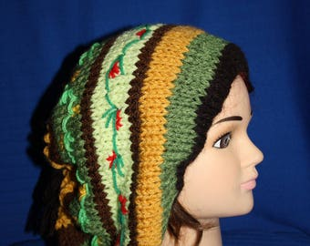 beret pretty embroidery hot elastic