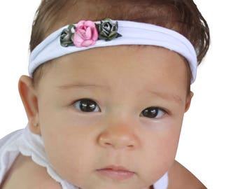 Headband for Babies, Flower Headband, Flower Headpiece, Baby Headband, Pink Headband, Flower Head band, Flower Headband Baby,