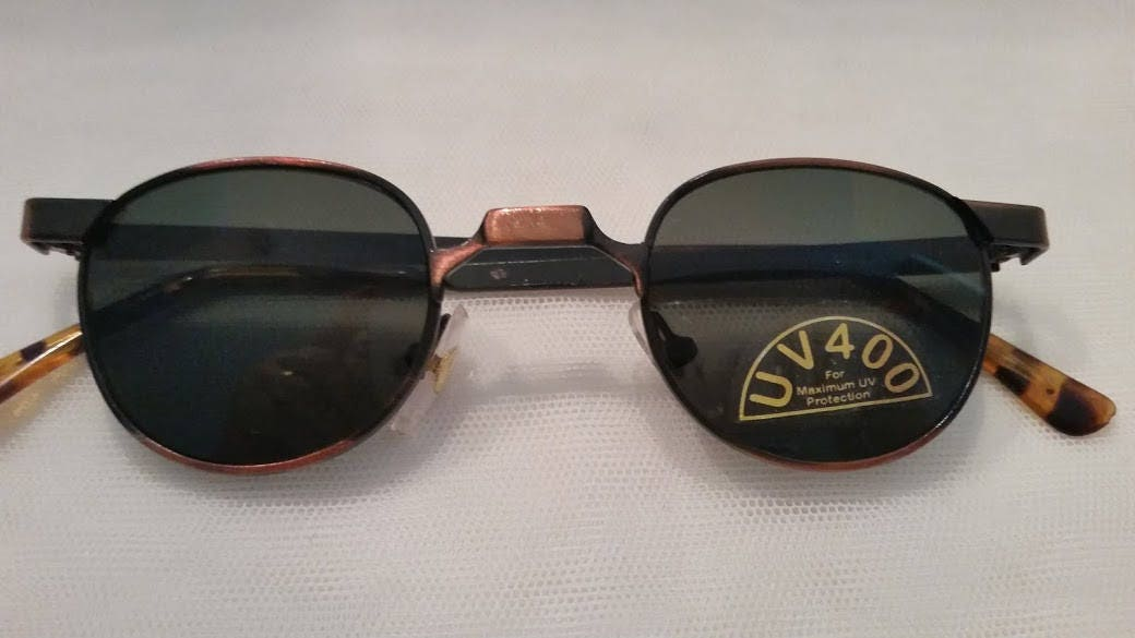 1afdc2f76c4 Vintage Metro Square Round Small Sunglasses. Small Cool Unique Vintage  Sunglasses. Copper Color