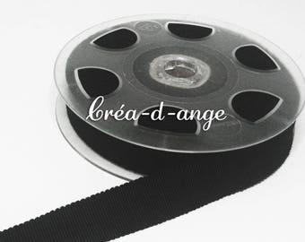 16mm wide black grosgrain Ribbon sold by 10cm