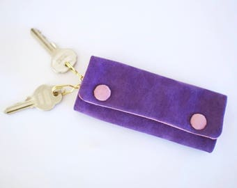 SUEDE 4-KEY CASE