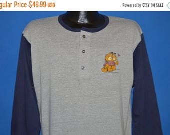 ON SALE 80s Garfield Big Man On Campus t-shirt Large