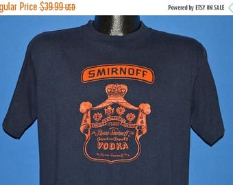 XMAS in JULY SALE 80s Smirnoff Vodka Label Leaves You Breathless t-shirt Large