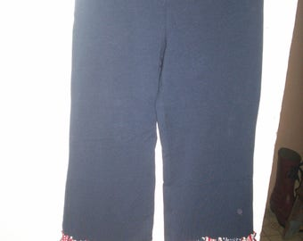 New Navy Pants with Star and Stripes Ruffles Size 4