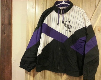 1990s Colorado Rockies Windbreaker Spring Jacket!