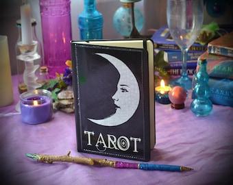 Tarot Journal / Moon Face Diary / A5 Moleskin Planner / Fortune Teller Gypsy Grimore / Book of Shadows / Tarot Card The Moon Notebook
