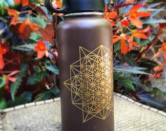 "64 star tetrahedron Sacred geometry decal sticker 5.25"" x 4.75"""