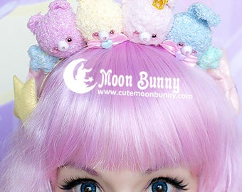 Pastel plush crown Hairband