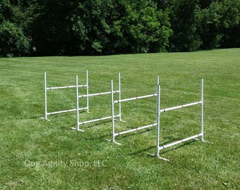 Dog Agility Equipment   Single Bar Jumps   4 Jumps total   UV resistant pipe!! FREE SHIPPING!