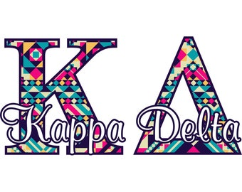 Kappa Delta wall decal, Sorority room decor sticker, Matte finish, Removeable repositionable reuseable (1261)
