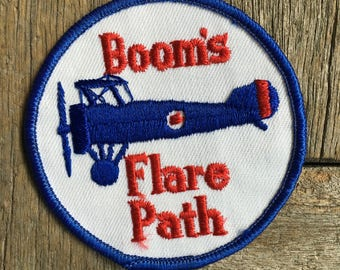 Boom's Flare Path Vintage Souvenir Travel Patch