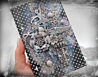 2018 Pocket Slim Diary 18 month academic diary A6 student college mix media altered diary Christmas gift Ballet Dance