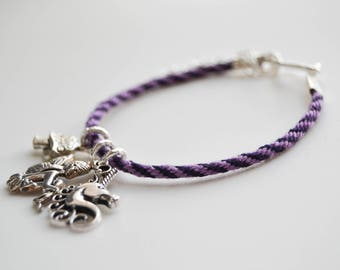 Custom Kumhimo Friendship Charm Bracelet