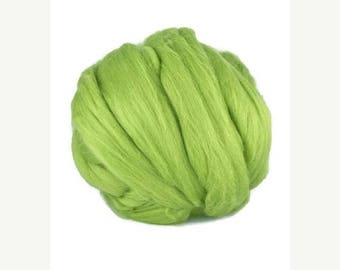 SALE Merino wool roving, Superfine 19 microns : Leaf