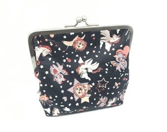 Metal frame kiss lock purse Liberty Kawaii