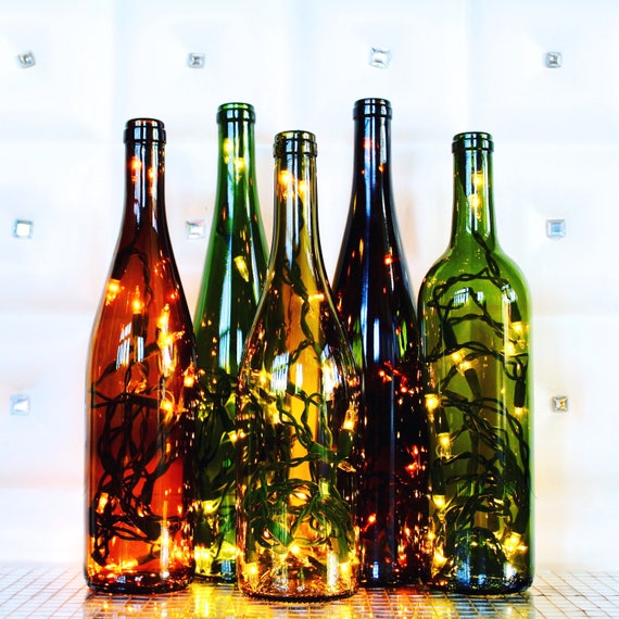 Recycled Wine Bottle Light Wine Bottle Lamp Wine Gift
