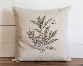 Botanical Bay Tree 20 x 20 Pillow Cover // Everyday // Herbs // Gift // Accent Pillow