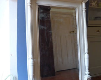 Huge Painted Henri II Style French Antique Mirror