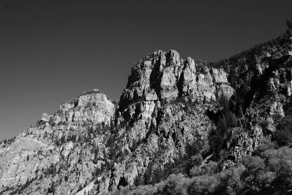 Fine Art Photography | Boulder Canyon Black and White  Print | Wall Art