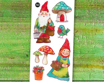 Temporary Tattoos - The garden gnomes