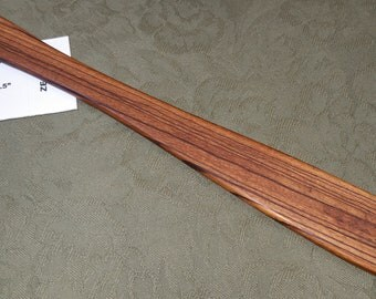 Zebrawood Miss Rose Paddles Exotic Hardwood Spatula Ruler Discipline Stick ZE121