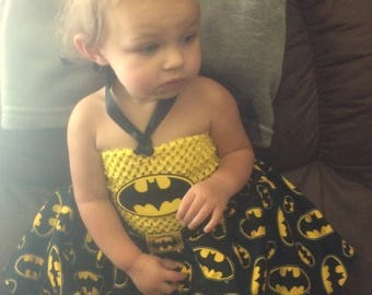 Batman Baby Tutu  Perfect for Halloween, pageant, outfit of choice, pageant wear, photo shoot or dress up fun