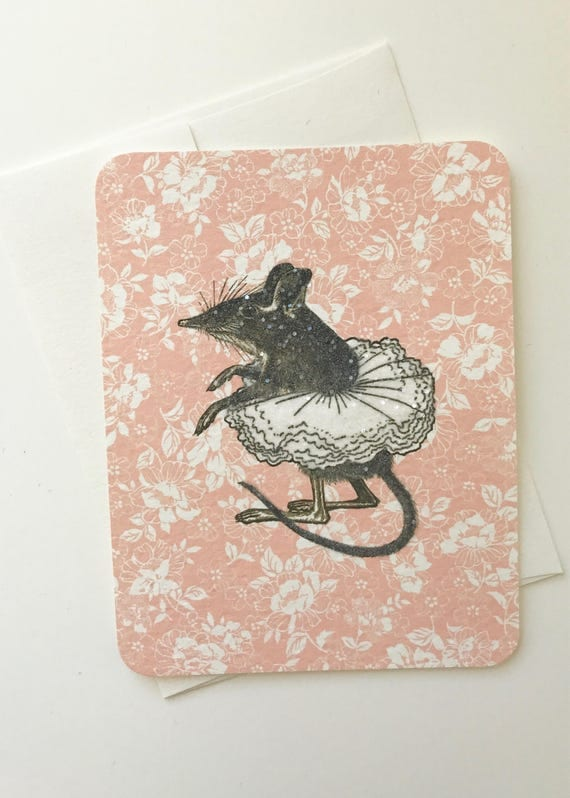 Vintage Little Field Mouse wearing a Tutu (pink)