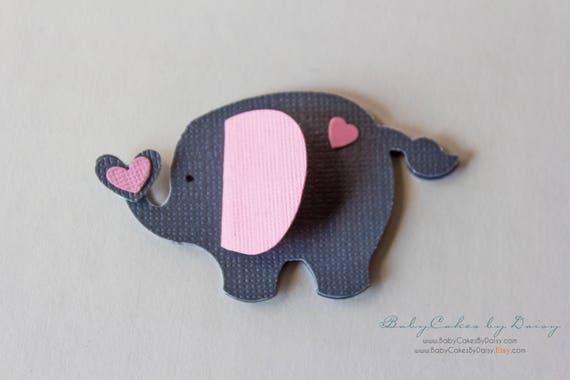 3D Elephant Table Decor - Elephant Baby Shower - Paper Table Scraps - 3D Elephant Table Confetti - Paper Elephant - Elephant Decor