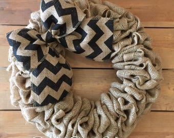 Front Door Wreath | Burlap Wreath | Spring Wreath | Everyday Wreath | Rustic Wreath | Farmhouse Wreath | Rustic Wreath