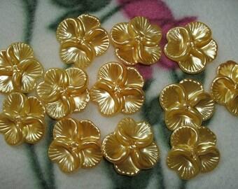 5 beads, flower, 2,7 x2, 7cm (242)