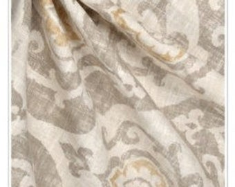 Gray Window curtains fully lined, Designer nubbylinen gray, gold, panels, draperies, drapes, pillows, Drapes, Designer drapes,shower curtain