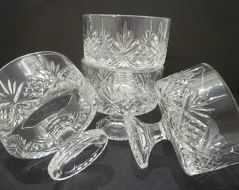 TRIFLE / DESSERT DISHES. Individual English Trifle Dishes. Crystal Desserts, Berries, Ice Cream Dishes. Pedestal Dessert Dishes. Set of Four