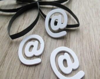 set of 3 letter @ wood