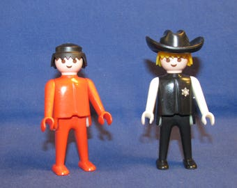 GEOBRA ACTION FIGURES 1974 Cowboy Sheriff and Red Man