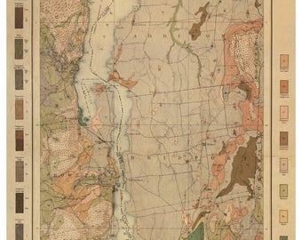 Lake Champlain 1904 Soils Map - VT Reprint