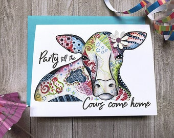 Retirement Card, Funny Retirement Card, Birthday Card, Funny Birthday Card, Animal Card, Funny Retirement Greetings, Custom Greeting Card