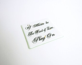Shakespeare Coaster Adorned with Gold Lustre 1#
