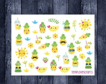 Pinapple Clip art Set for ec life planner, happy planner, filofax, kikki k, or any planner or scrapbooking