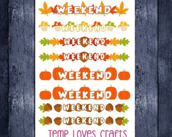 Weekend Sale Fall weekend banners for erin condren life planner or any planner