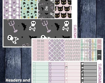 Weekend Sale Pastel Halloween Set for Erin Condren Life Planner