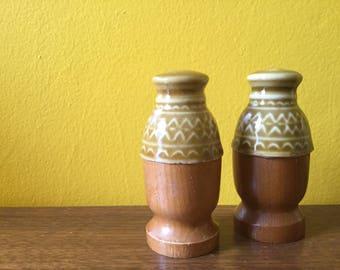 Vintage Wooden Shaker Set