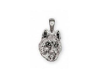 Siberian Husky Pendant Jewelry Sterling Silver Handmade Dog Pendant SB3-P