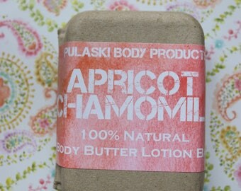 Apricot Chamomile Body Butter Lotion Bar